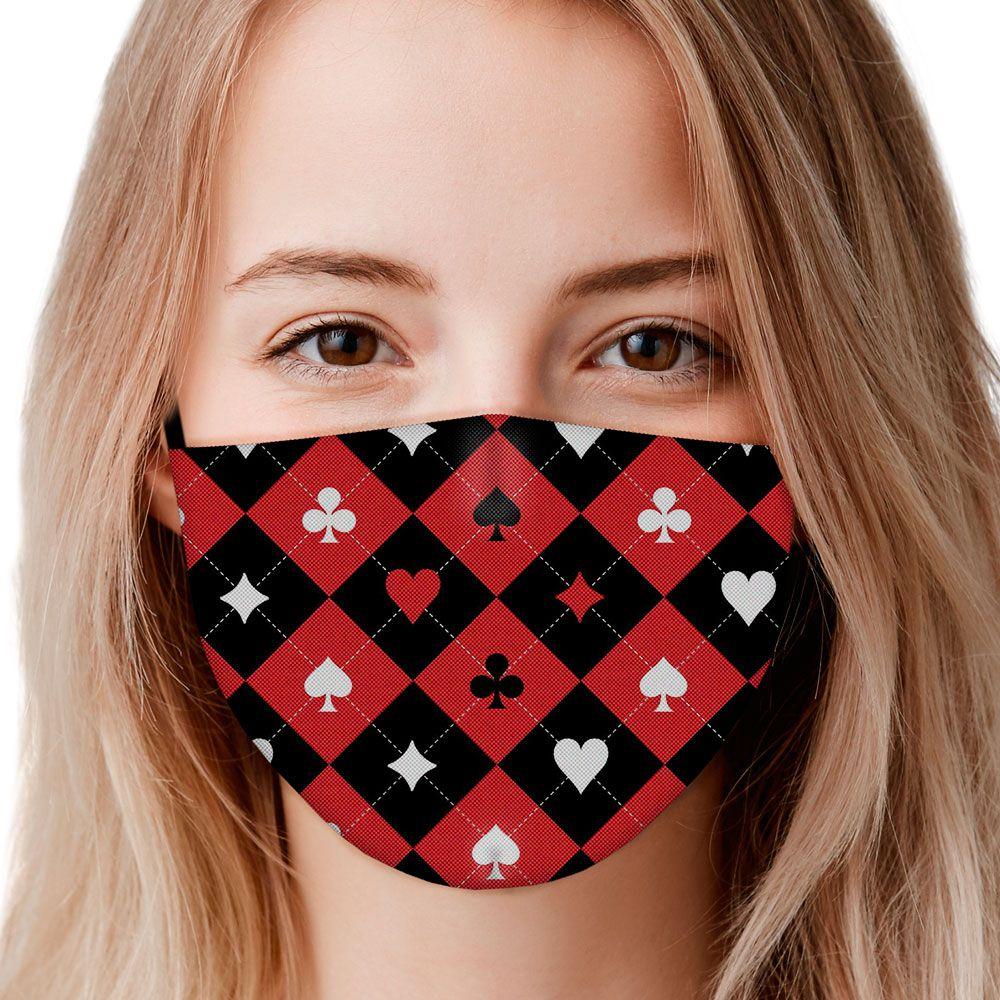 Máscara Cartas Naipes Baralho