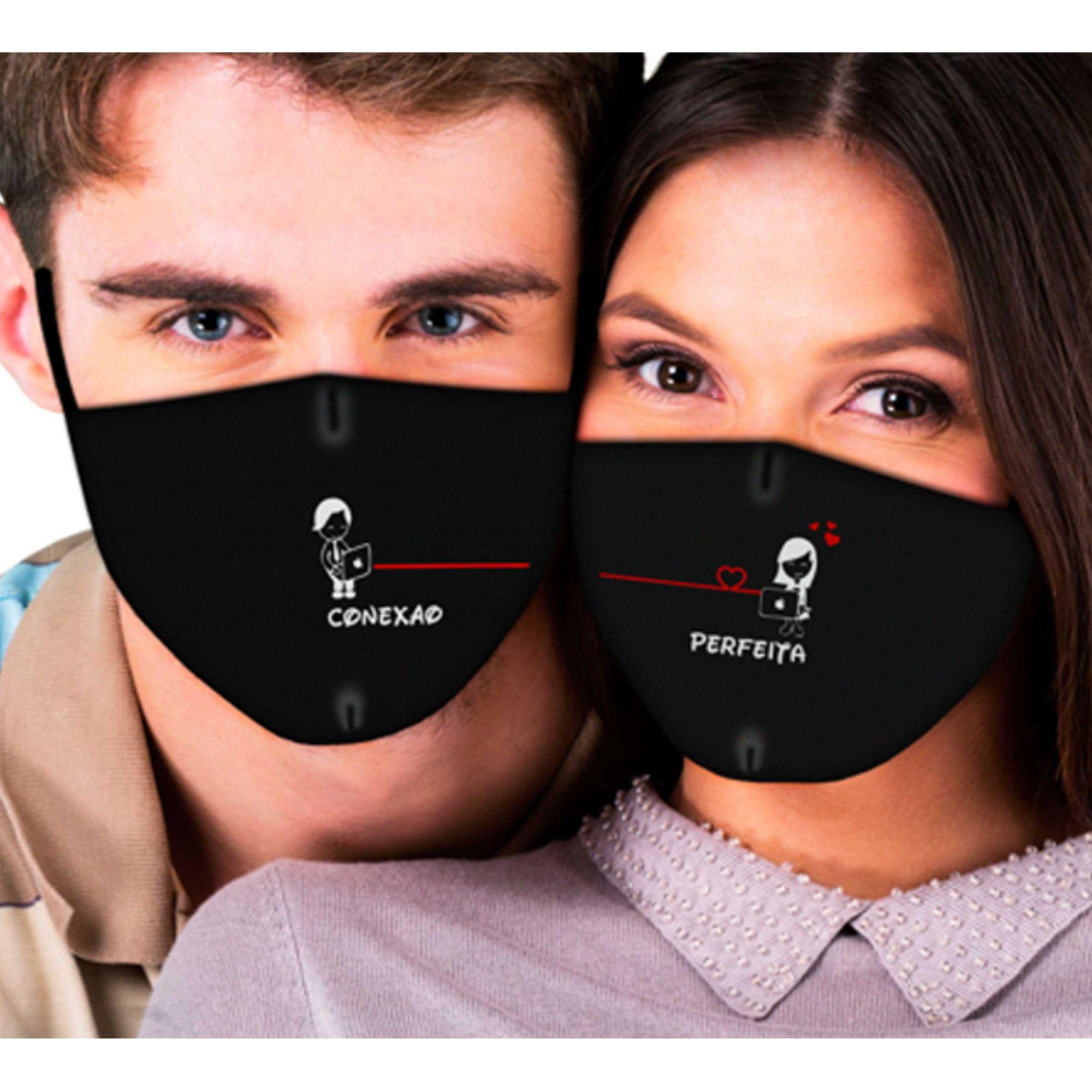Máscaras de Casal Conexão Perfeita