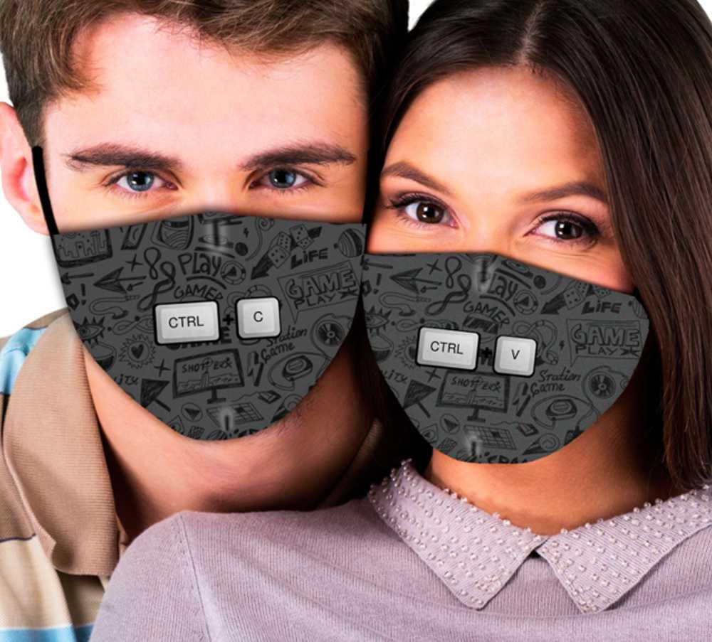 Máscaras de Casal Copiar & Colar