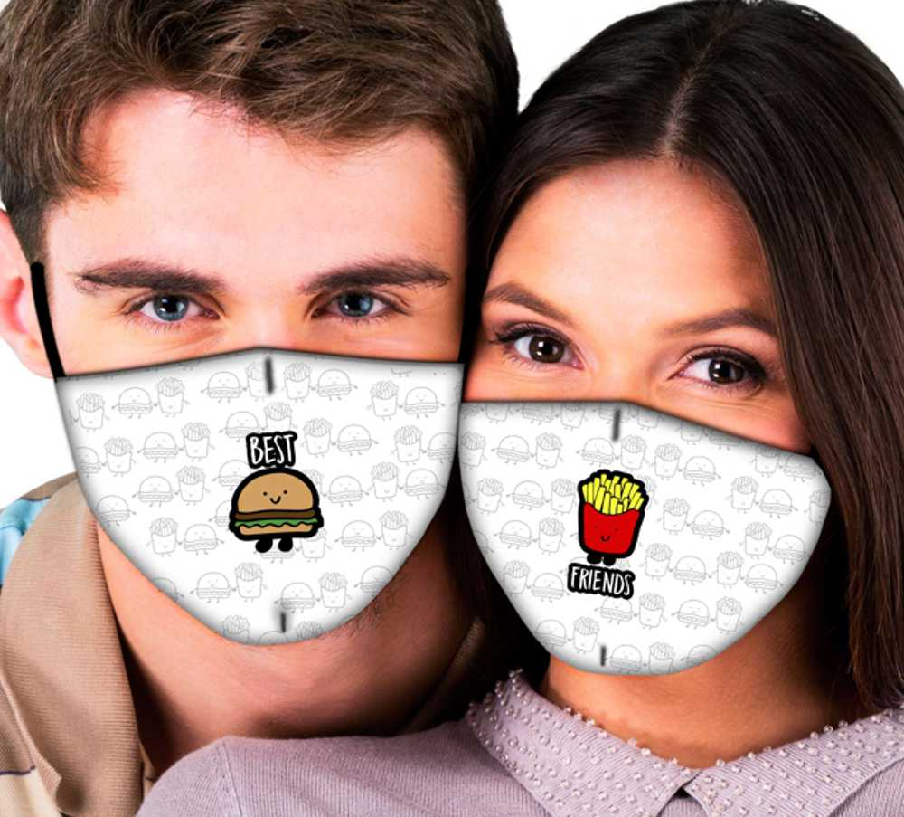 Máscaras de Casal Melhores Amigos
