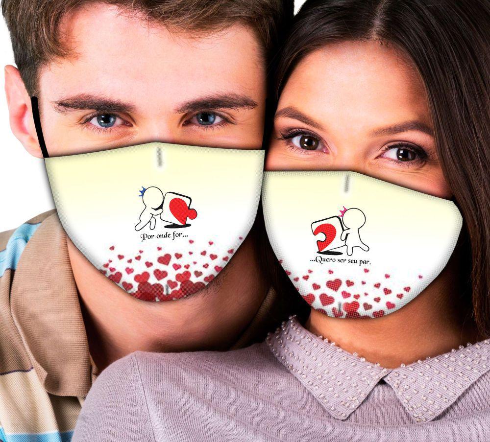 Máscaras Casal Por Onde for Quero Ser Seu Par