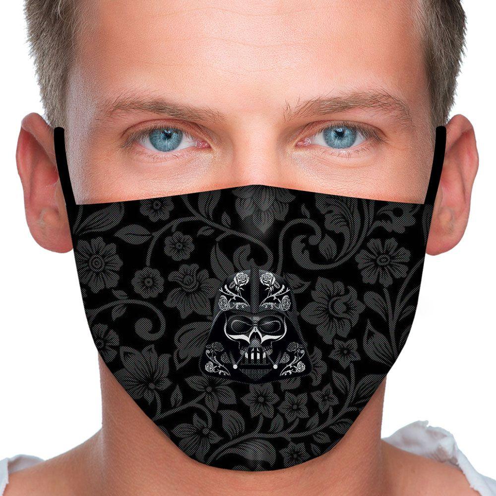 Máscara Caveira Rosas Negras
