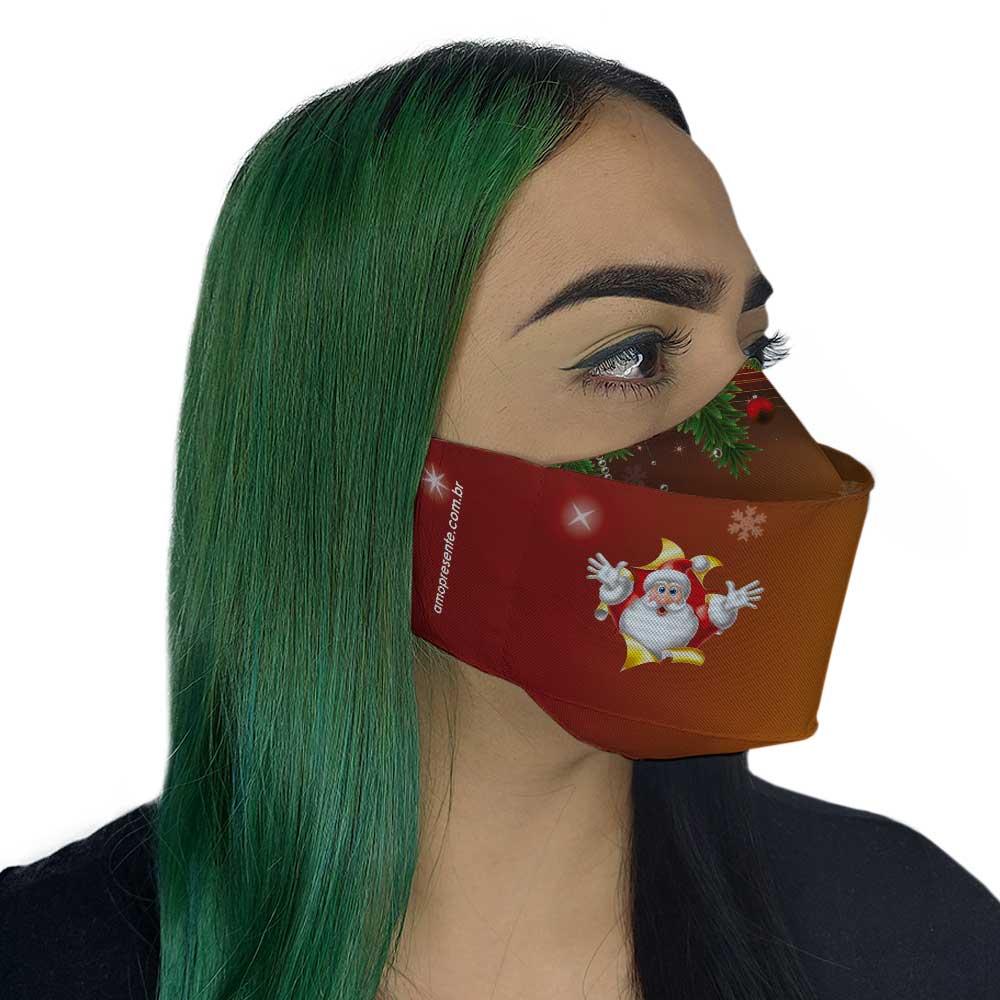 Máscara de Natal Papai Noel Degradê