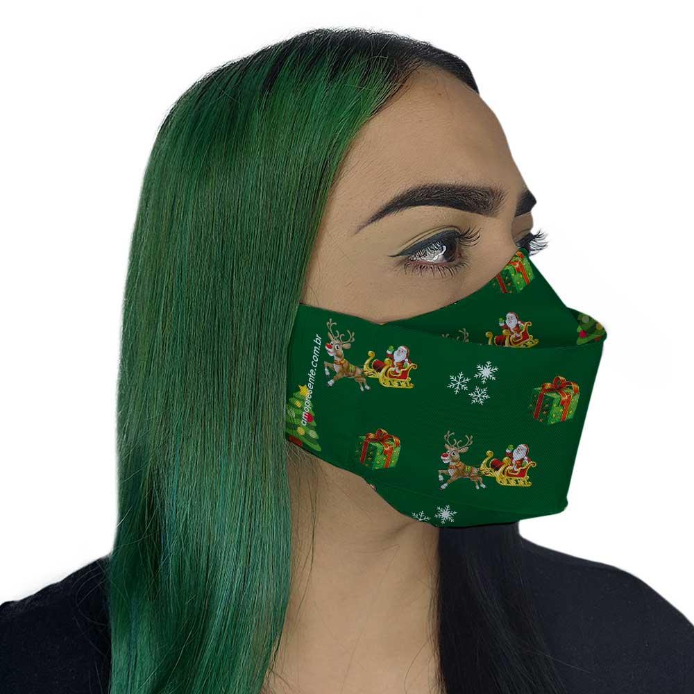 Máscara de Natal Verde