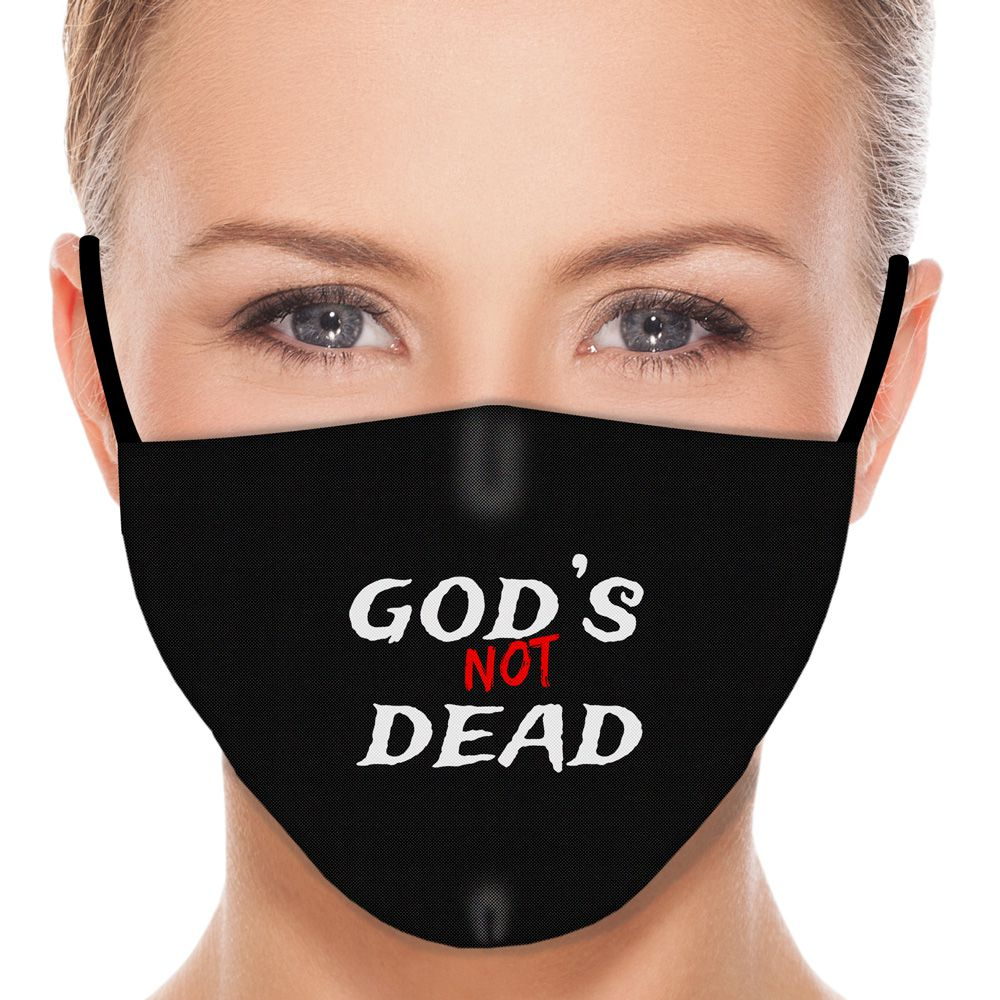 Máscara Fé Deus Não Está Morto