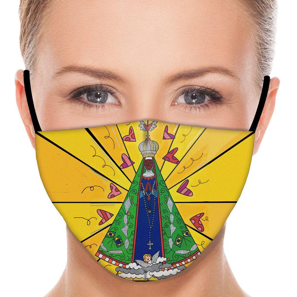 Máscara Fé Nossa Senhora Aparecida