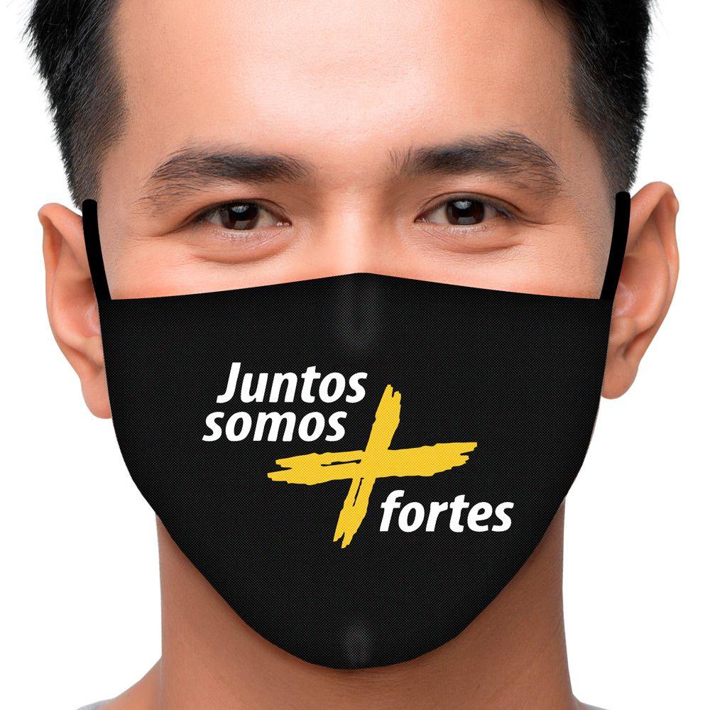 Máscara Frases Juntos Somos Mais Fortes