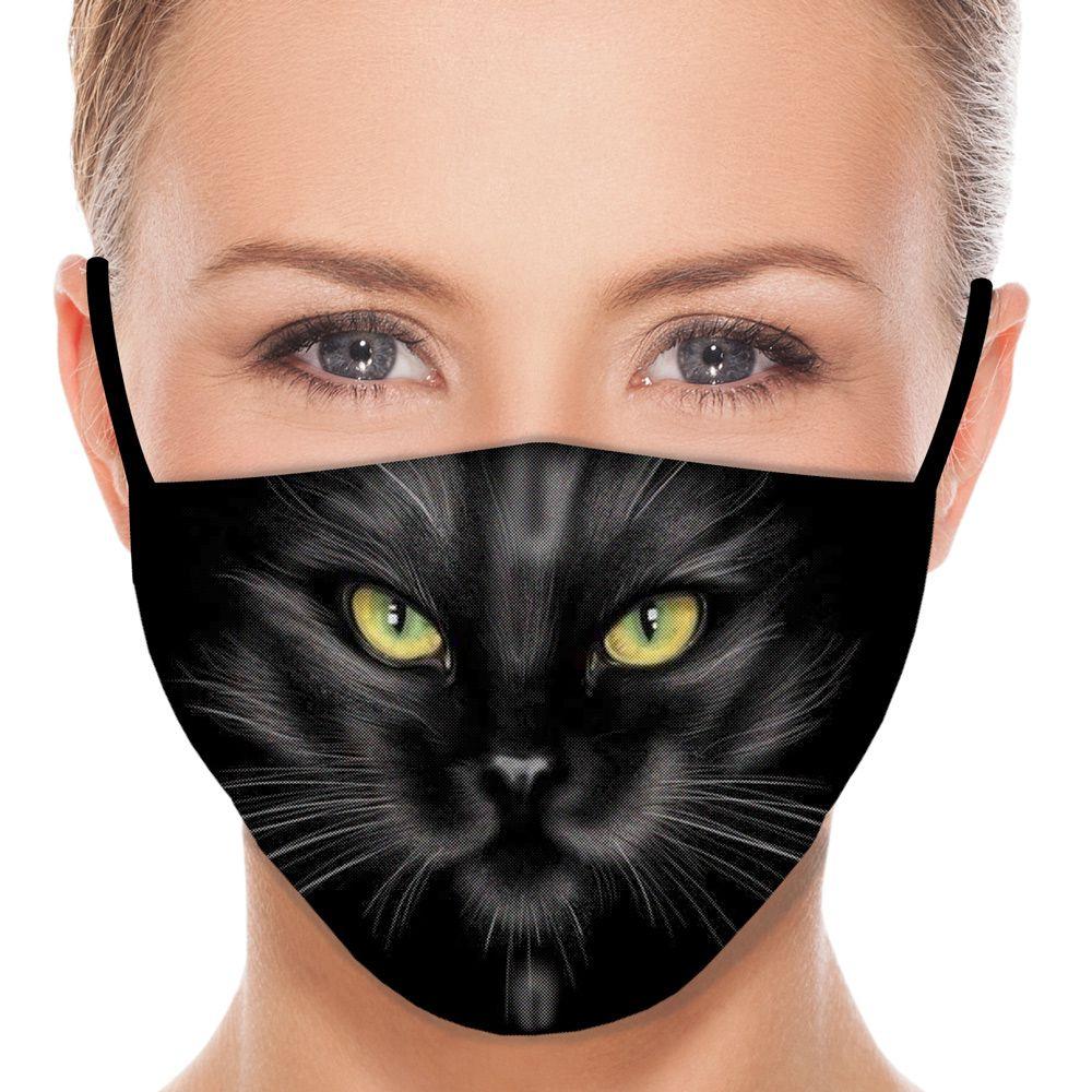 Máscara Animais Gato Preto