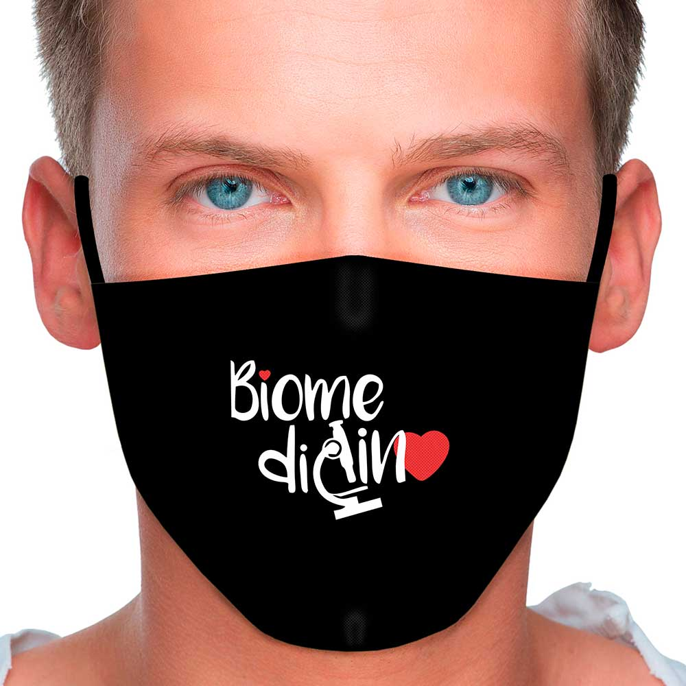 Máscara Profissão Biomedicina