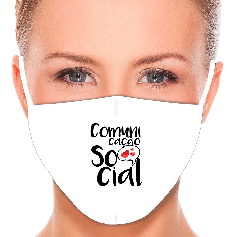 Máscara Profissão Comunicação Social