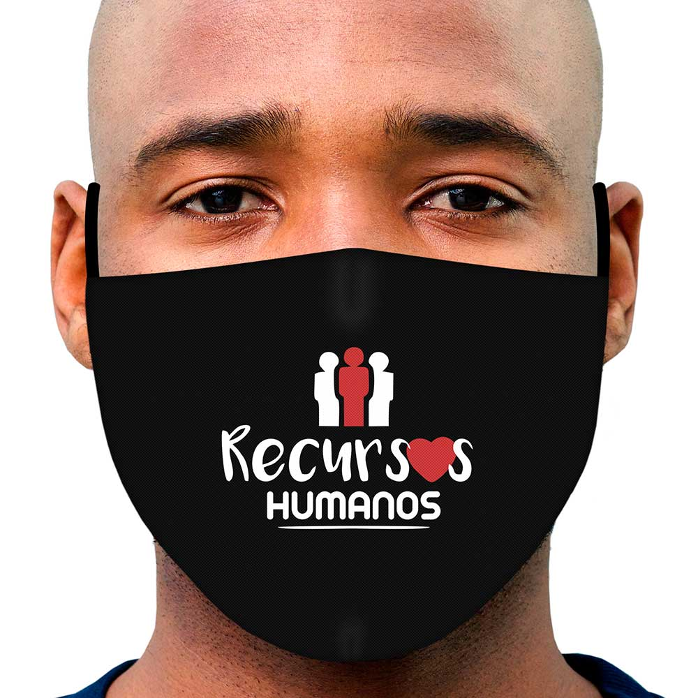 Máscara Profissão Recursos Humanos