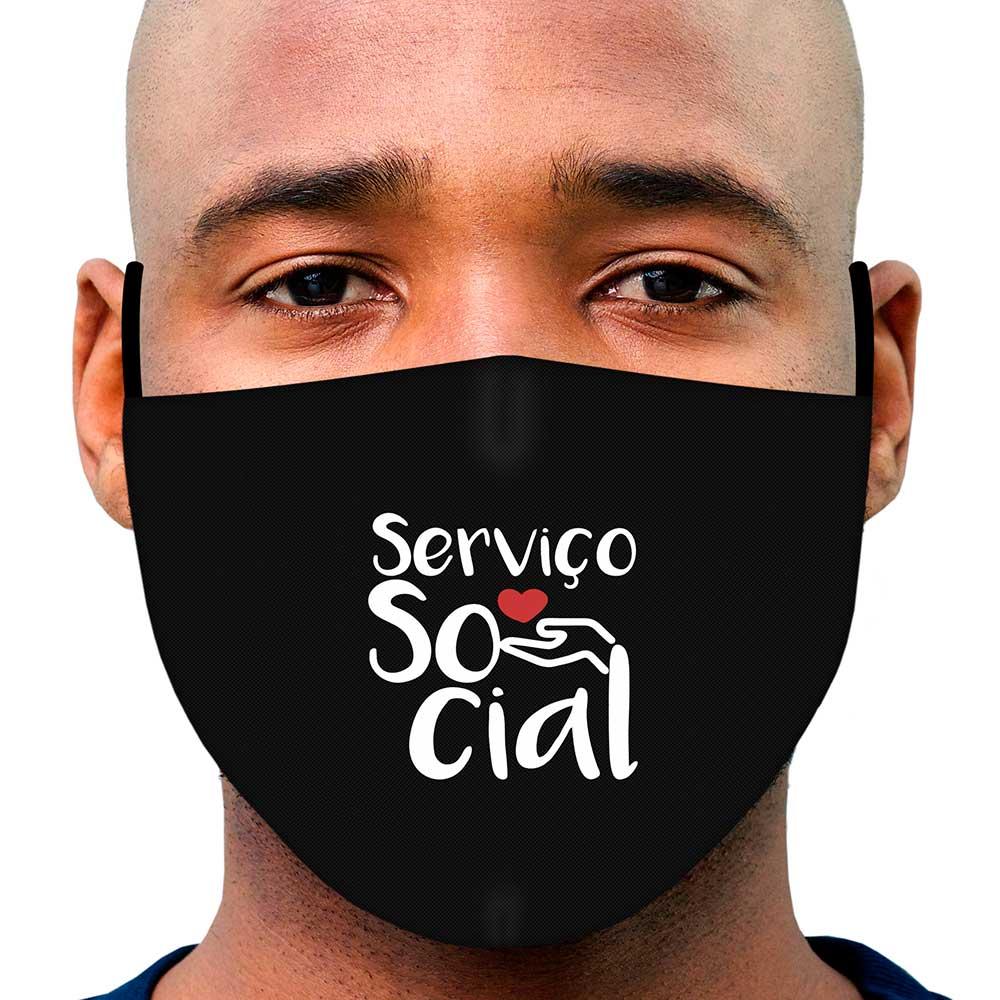 Máscara Profissão Serviço Social