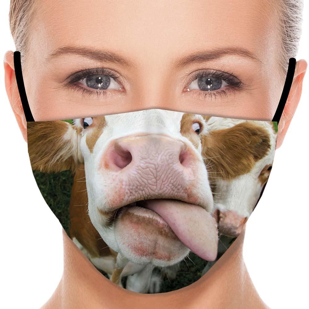 Máscara Animais Vaca Miga sua louca