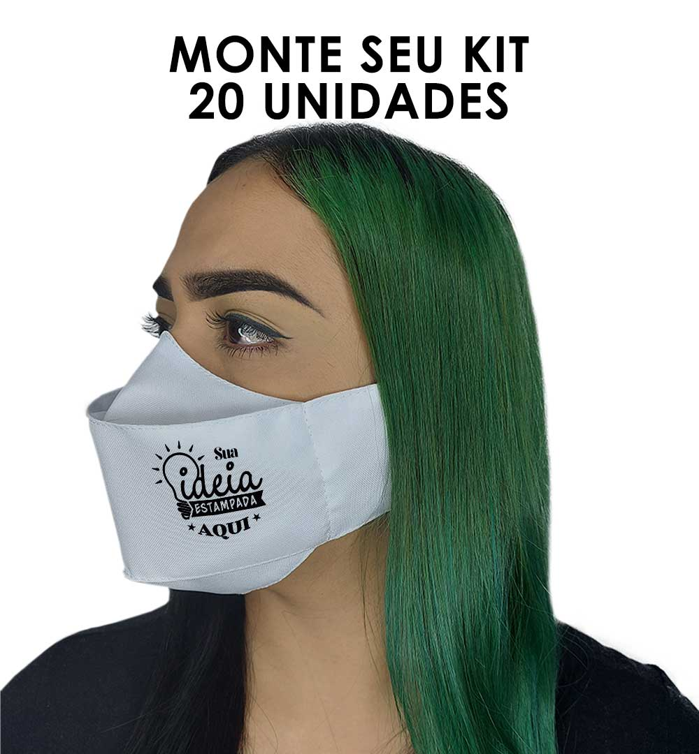 Máscaras 3D Kit 20 uni