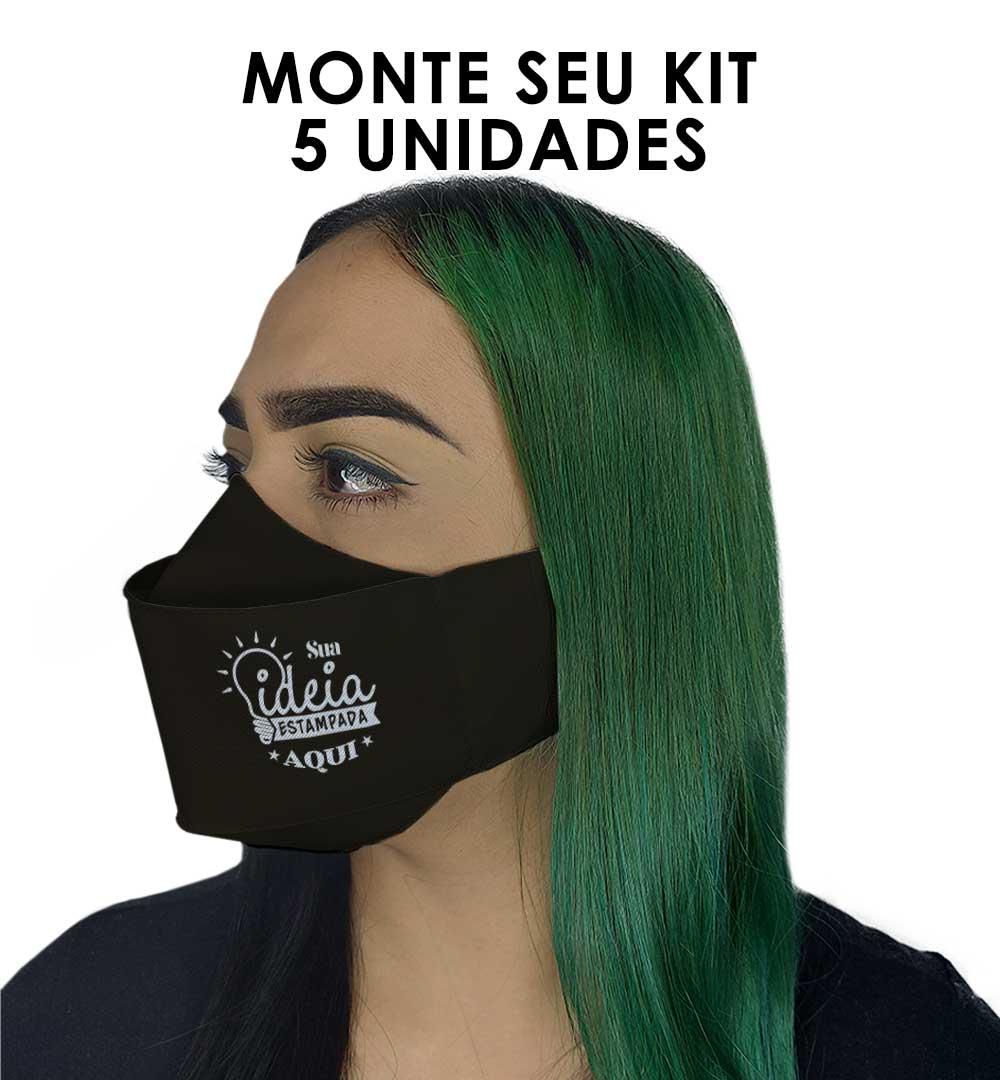 Máscaras 3D Kit 5 uni