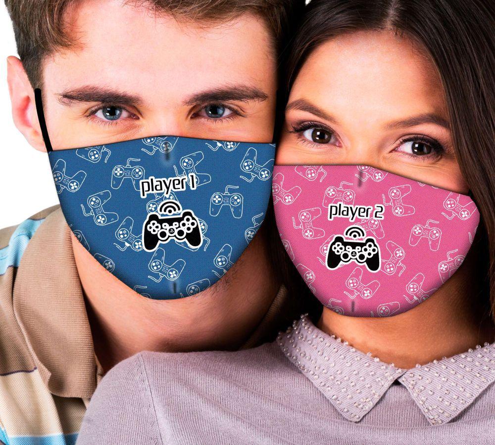 Máscaras de Casal Player 1 x Player 2