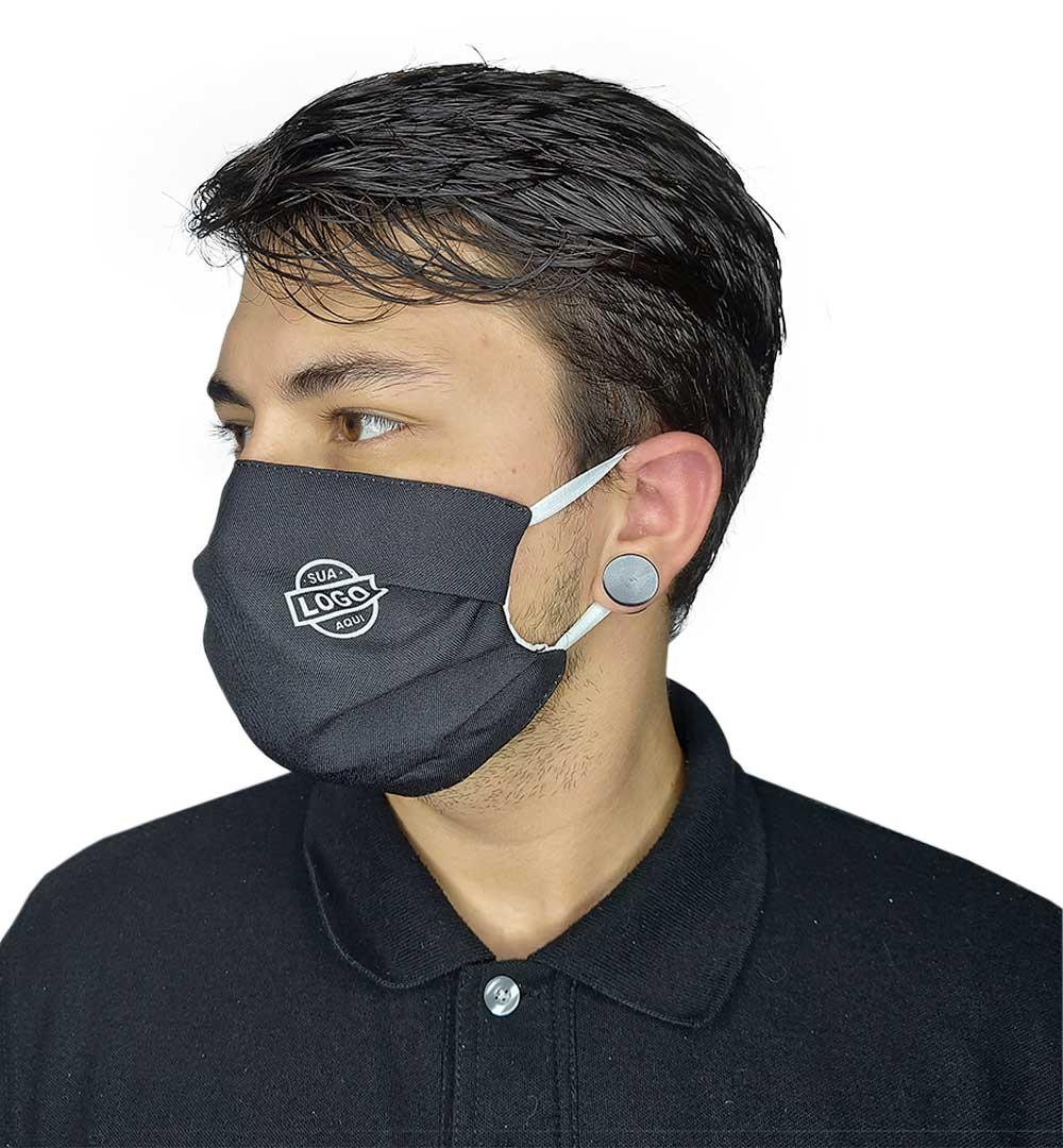 Máscaras para Empresas Monte Seu Kit Modelo Franzido