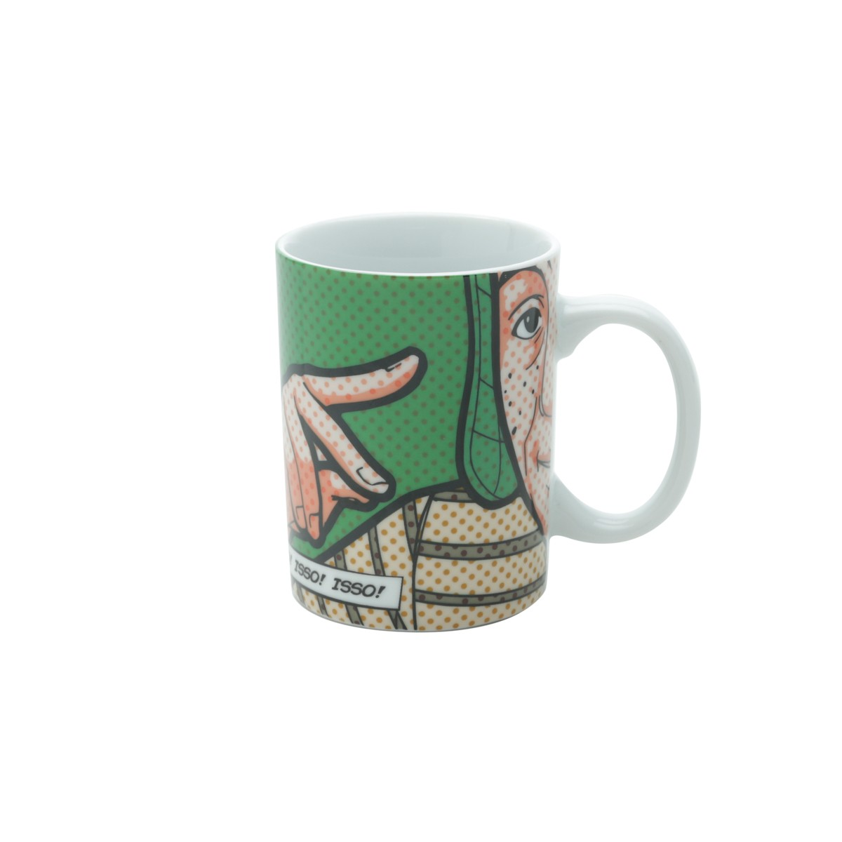 Mini Caneca Porcelana - Chaves Verde 135ml