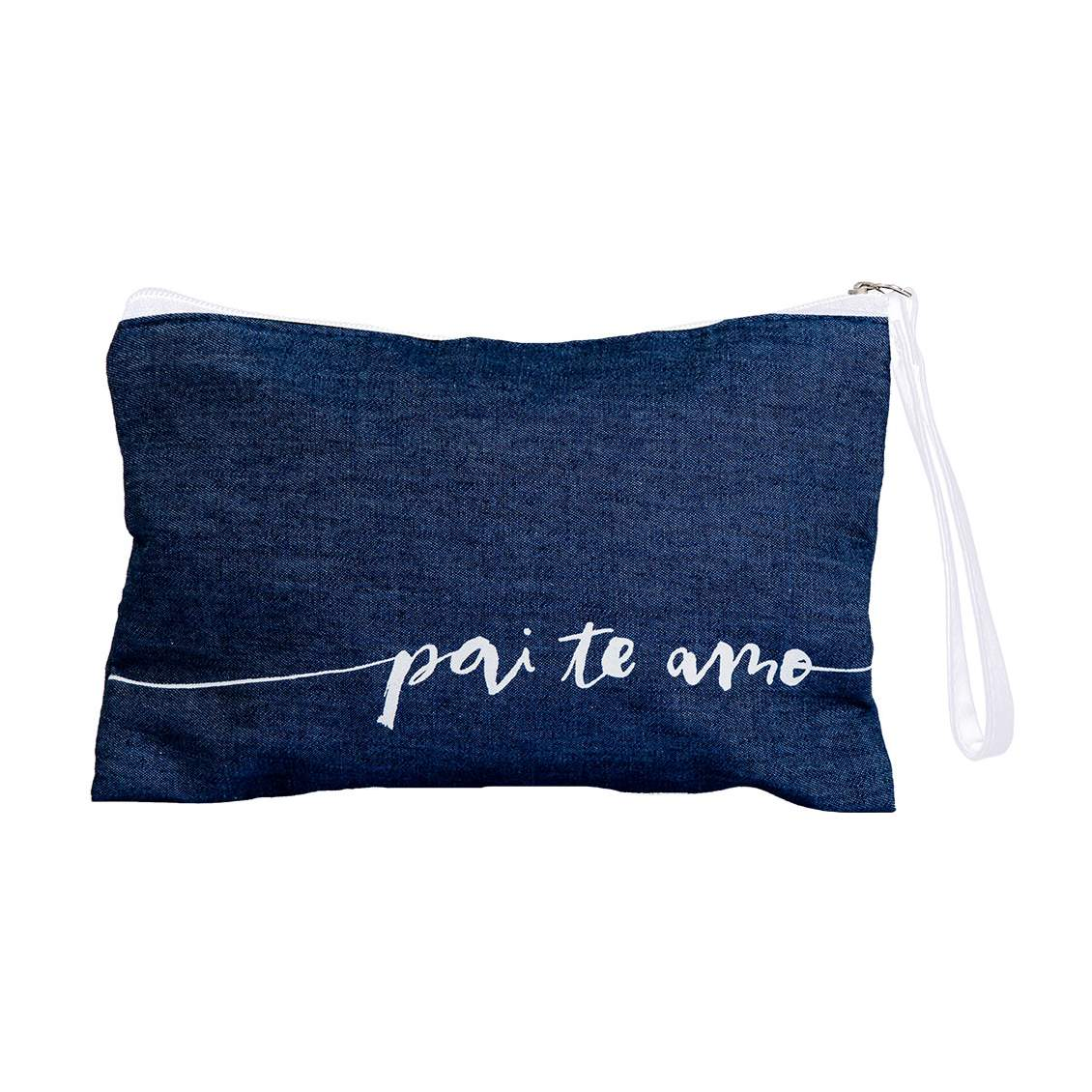 Necessaire Postal Jeans Pai, Te Amo