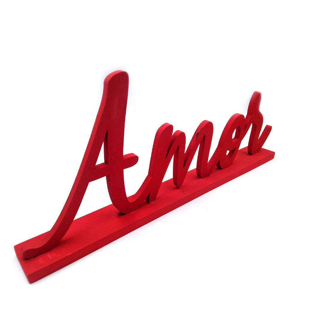 Palavra de Mesa Vermelha - Amor