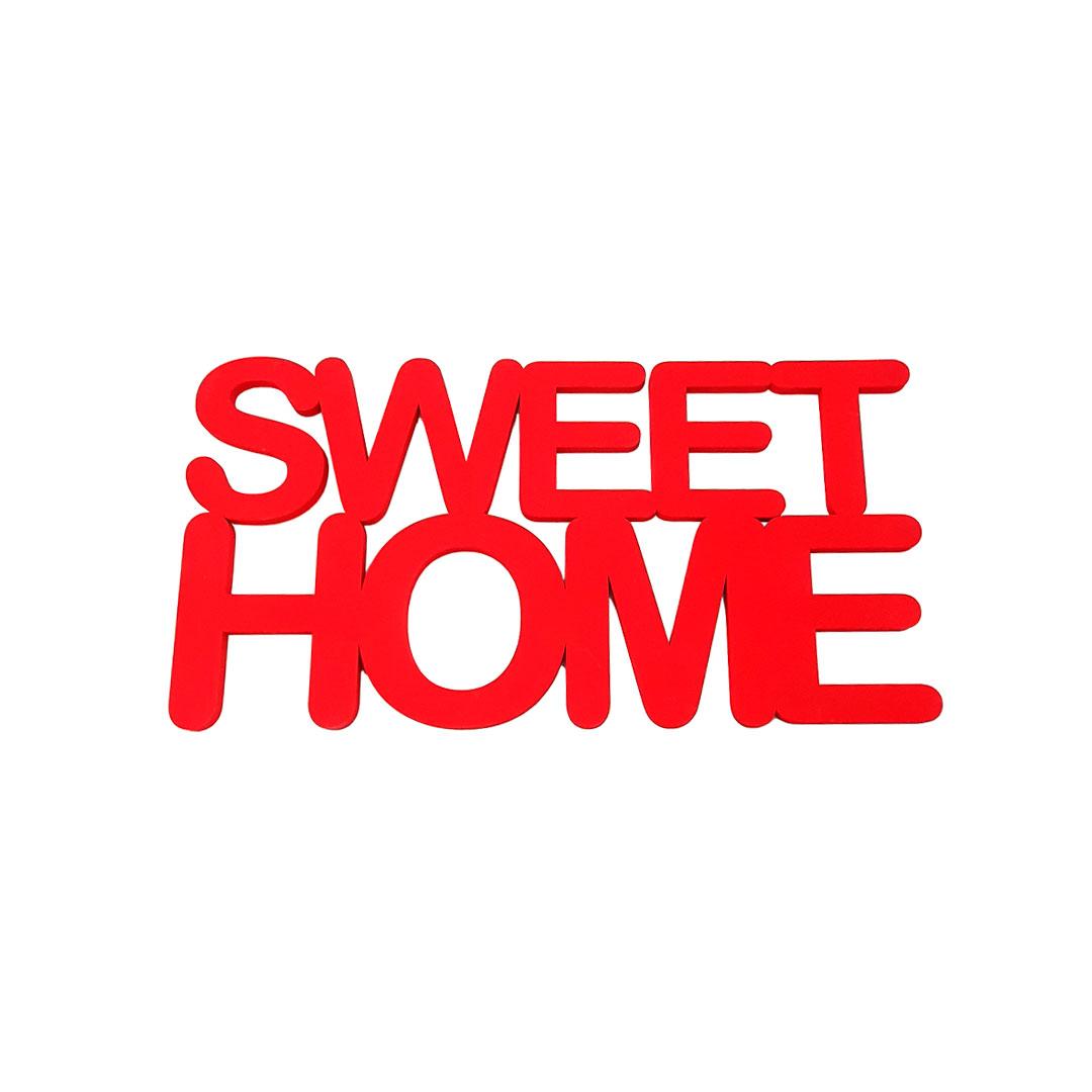 Palavra de Parede - Sweet Home Vermelho