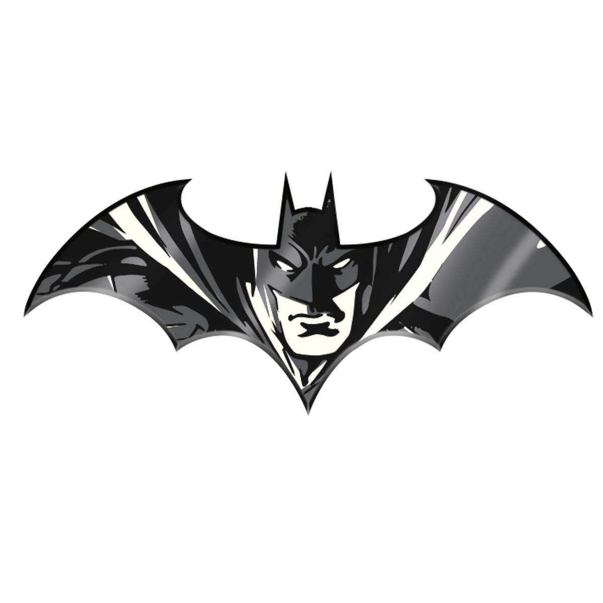 Placa de Alumínio Batman Preto