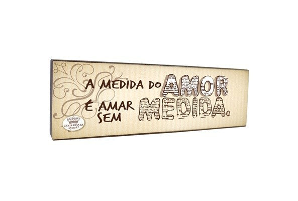 Placa De Mesa A Medida Do Amor