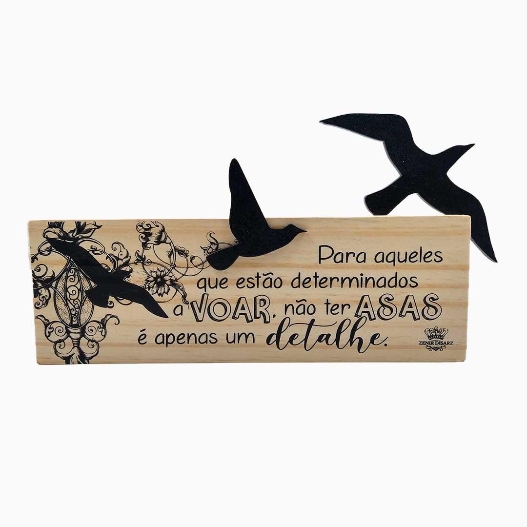 Placa de Mesa - Determinados a Voar