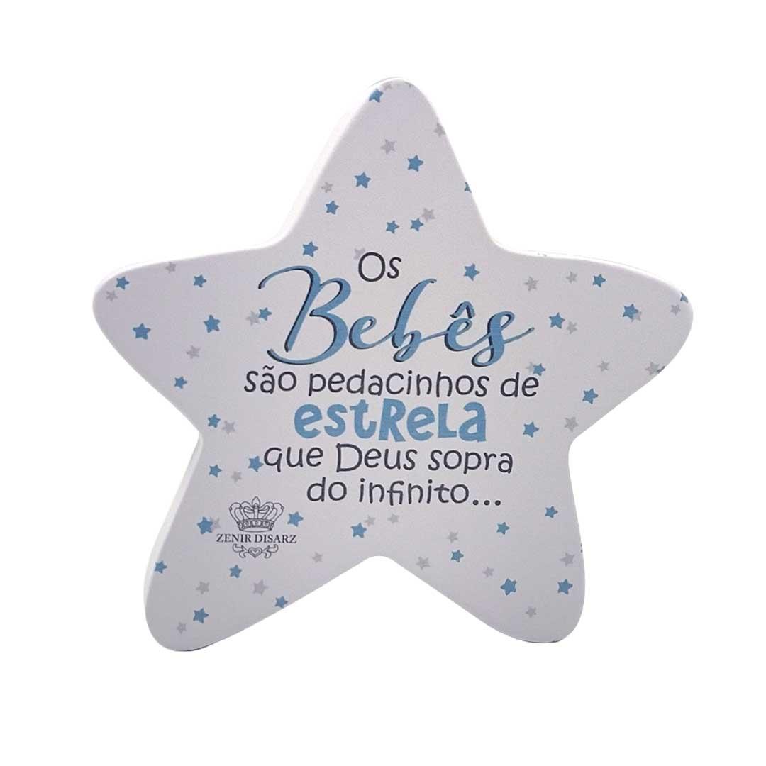 Placa de Mesa - Estrela Bebê Azul