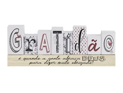 Placa de Mesa Gratidão