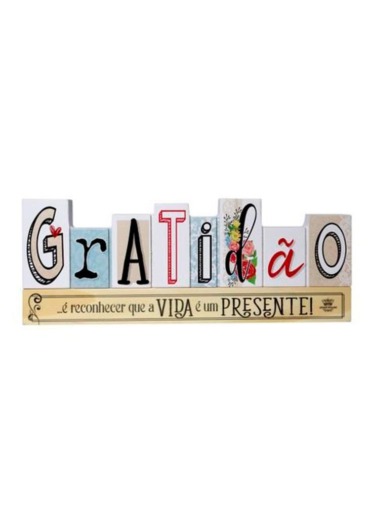 Placa de Mesa - Gratidão, a Vida é um Presente