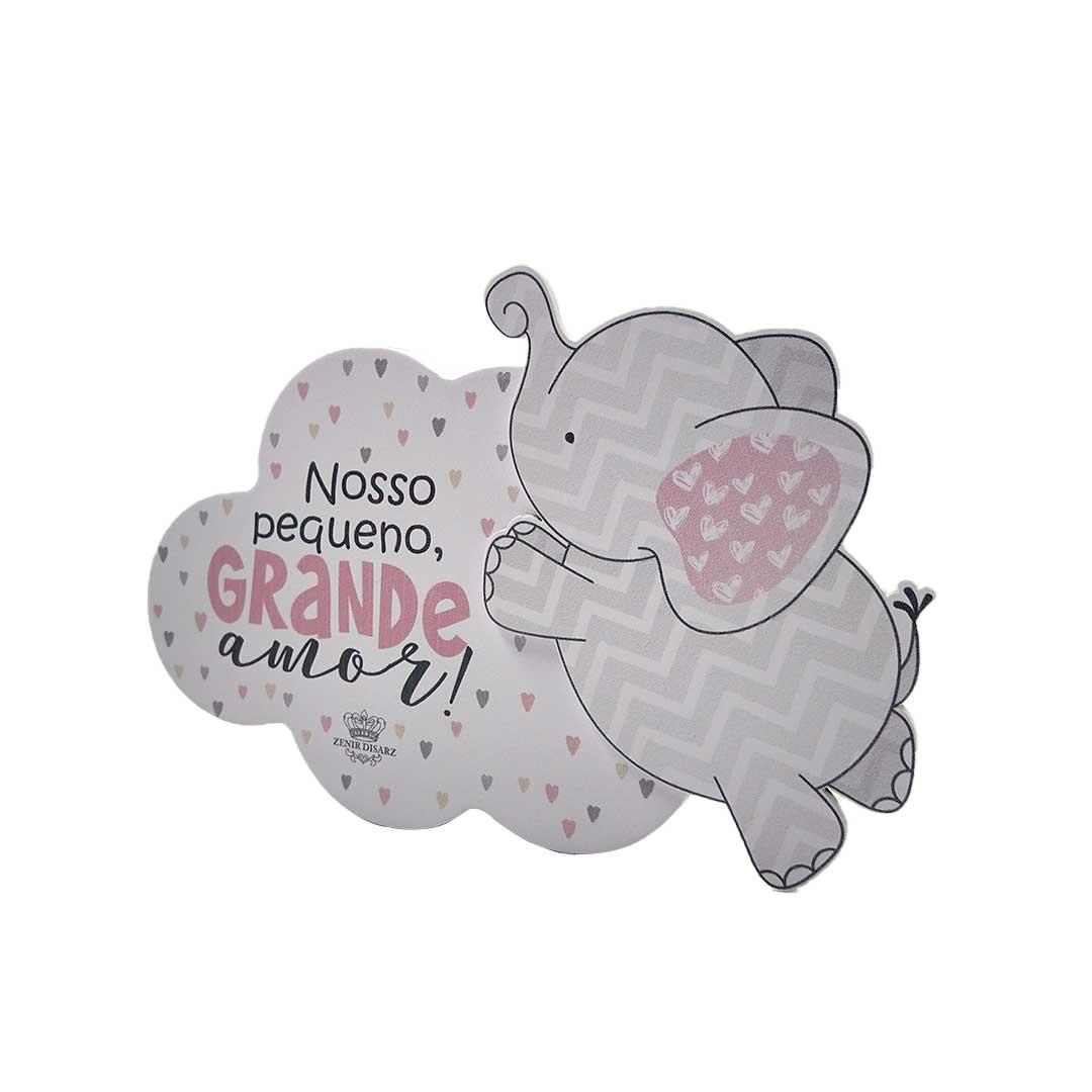 Placa de Mesa - Nuvem | Nosso Grande Amor Rosa