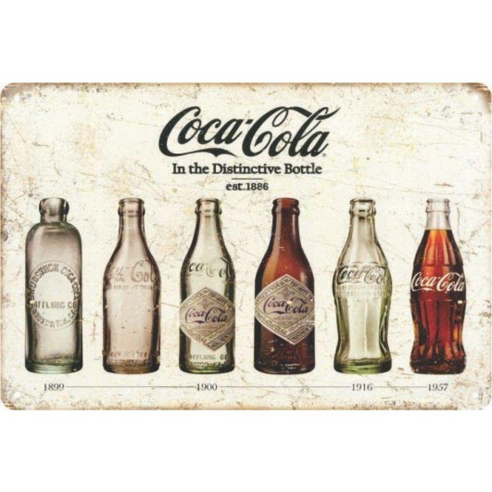 Placa Decorativa - Coca Cola 6 garrafas