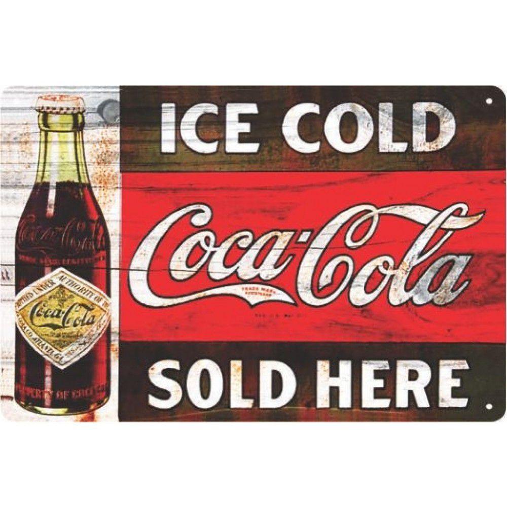 Placa Decorativa - Coca Cola | Sold Here