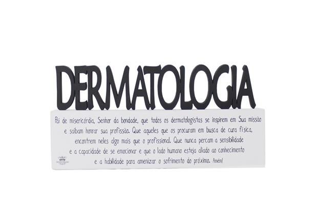Plaquinha com Oração Profissão Dermatologia