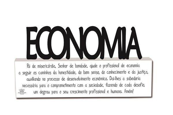 Plaquinha com Oração Profissão Economia