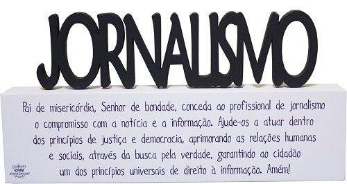 Plaquinha com Oração Profissão Jornalismo
