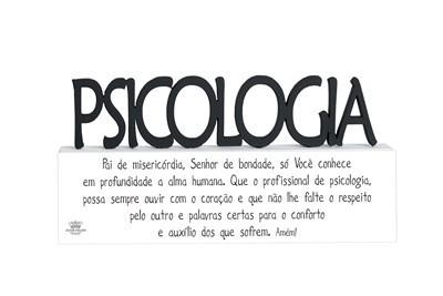 Plaquinha com Oração Profissão Psicologia