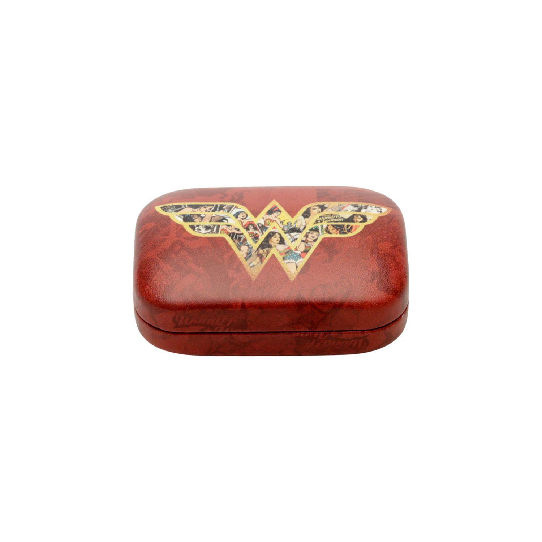 Porta Lentes Contato  - Mulher Maravilha | Vermelho Logo