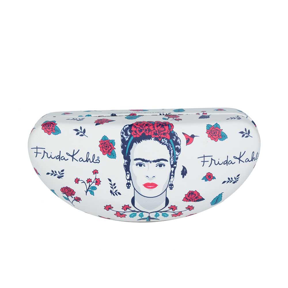 Porta óculos Frida Kahlo Floral Branco