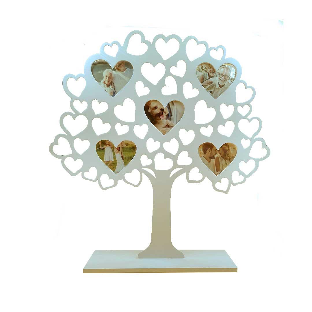 Porta Retrato - Árvore com Corações Branca