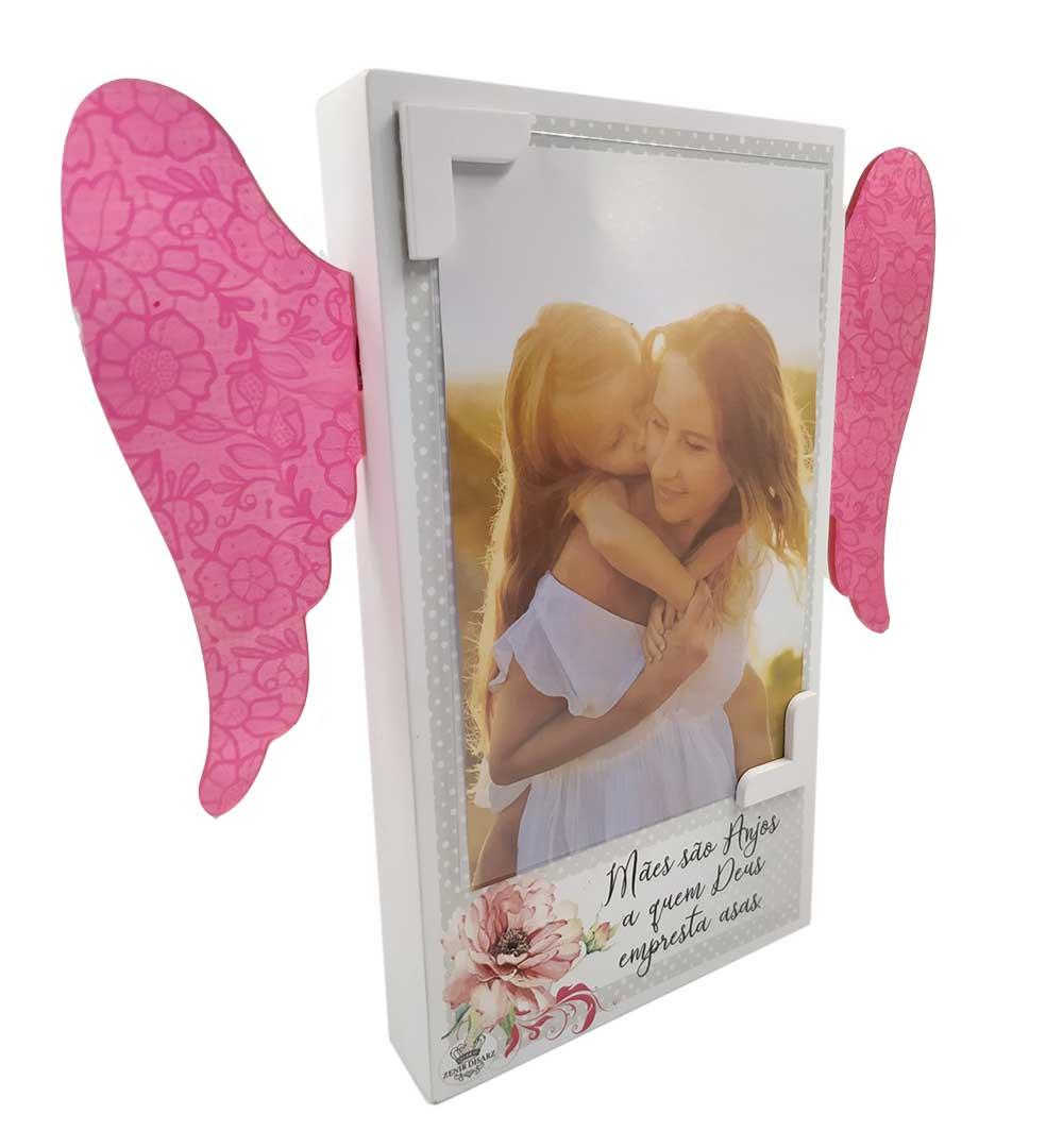 Porta-Retrato com Asas - Mãe são Anjos