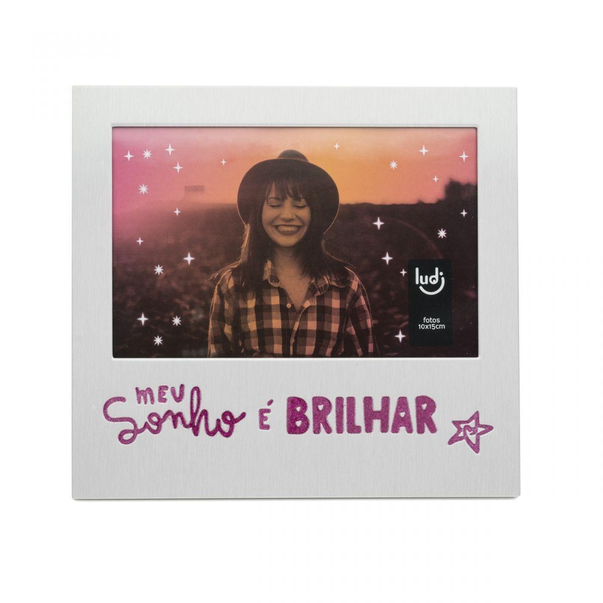 Porta Retrato Glitter Larissa Manoela - Meu Sonho é Brilhar