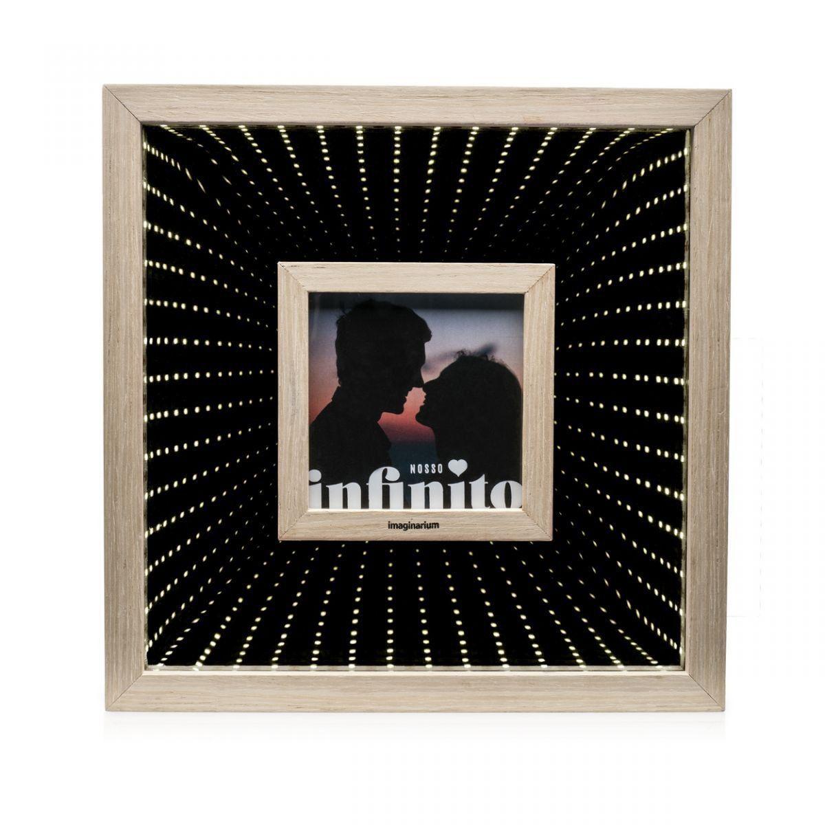 Porta Retrato Led Espelhado Infinito