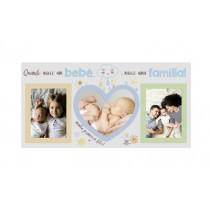 Porta Retrato Quando Nasce Um Bebê Azul