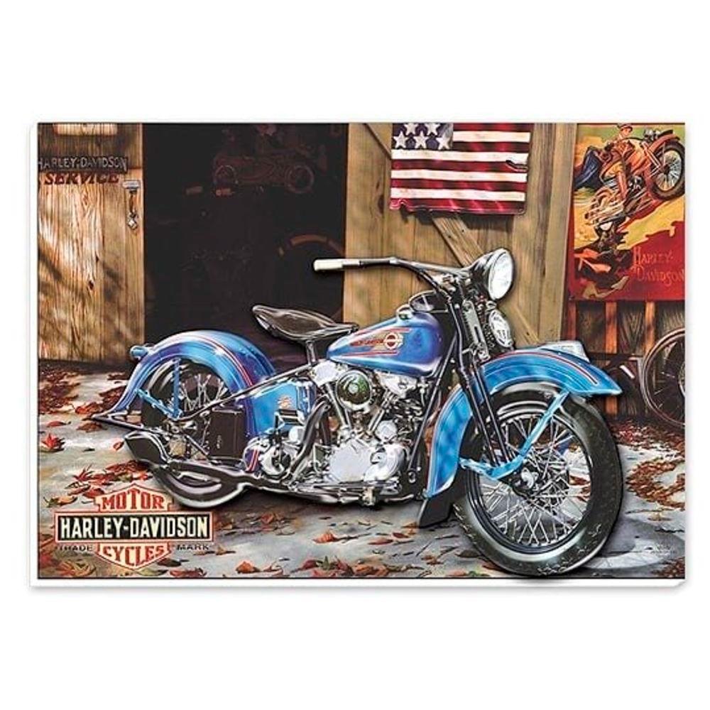 Quadro com Relevo - Harley Davidson