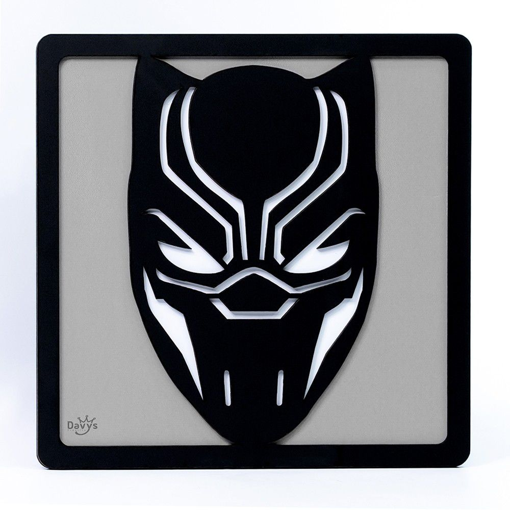 Quadro Herói 3D Pantera Negra