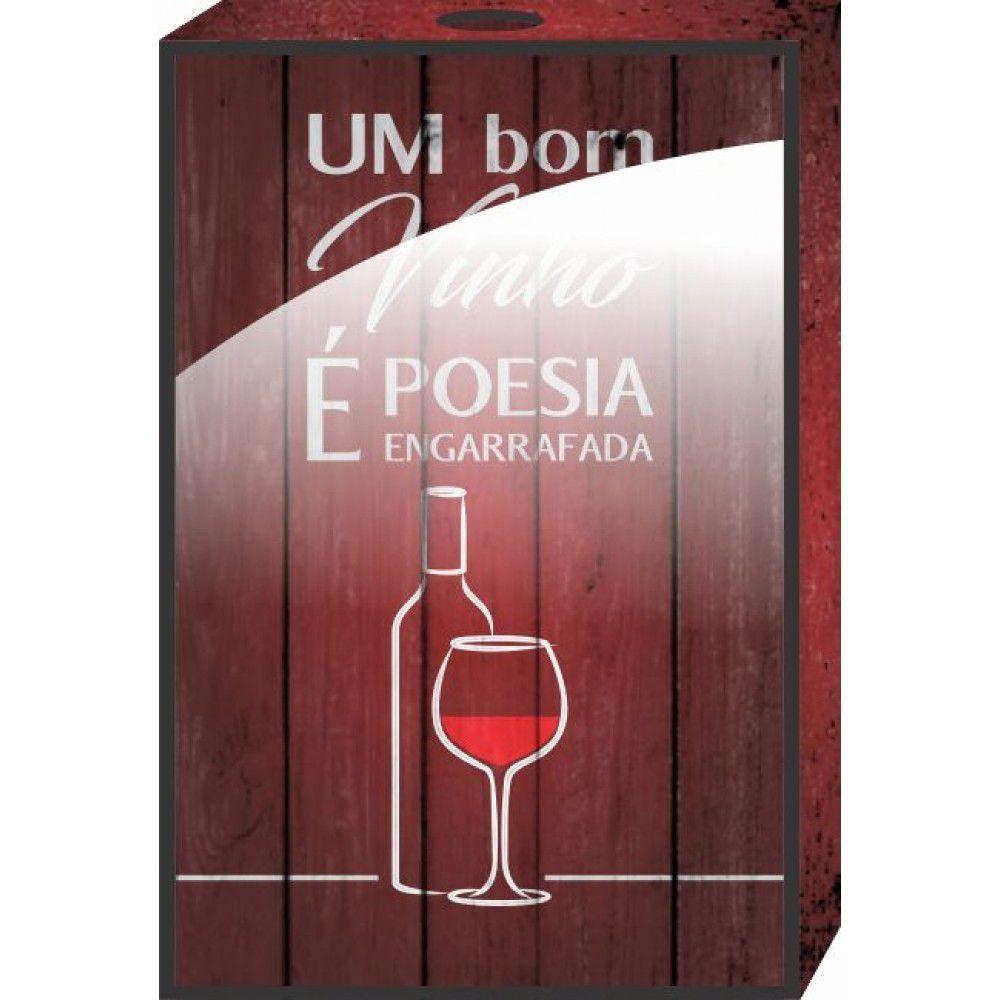Quadro Porta Rolhas Um Bom Vinho É Poesia Engarrafada