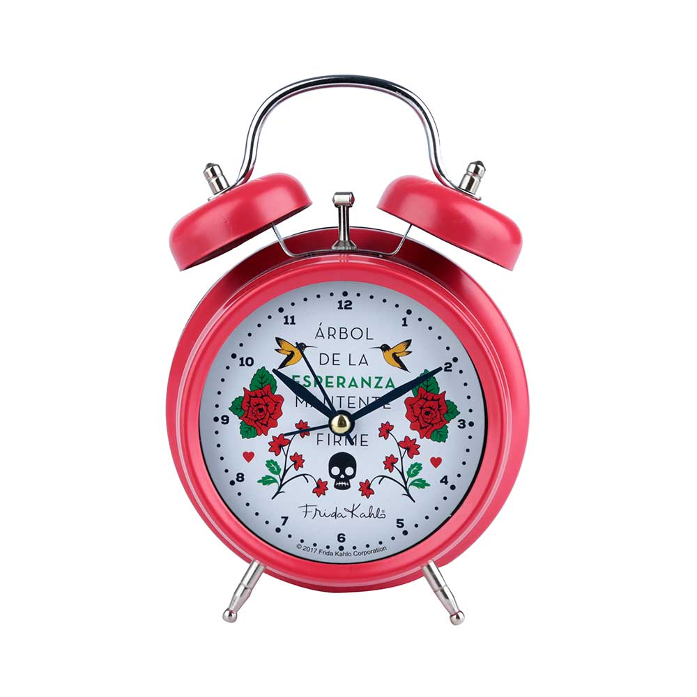 Relógio Despertador - Frida Kahlo Vermelho