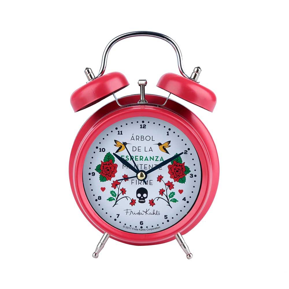 Relógio Metal Vermelho - Frida Kahlo   Floral